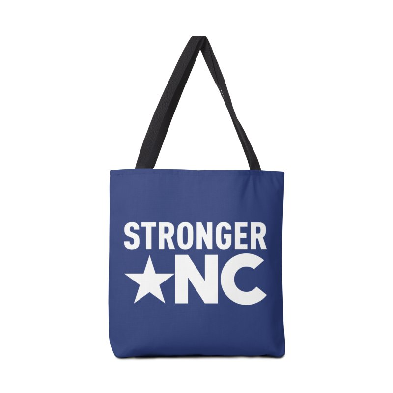 StrongerNC White Logo Accessories Tote Bag Bag by Stronger NC