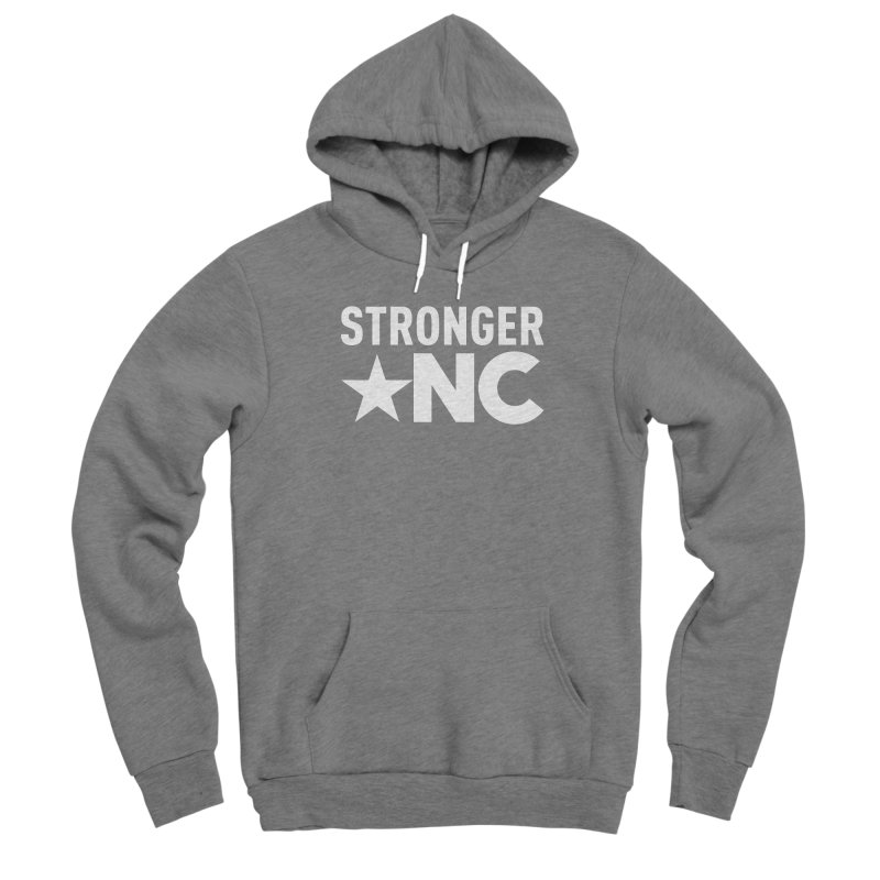 StrongerNC White Logo Men's Pullover Hoody by Stronger NC