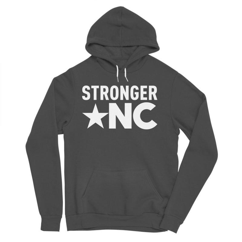 StrongerNC White Logo Women's Sponge Fleece Pullover Hoody by Stronger NC