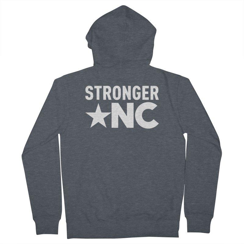 StrongerNC White Logo Women's Zip-Up Hoody by Stronger NC