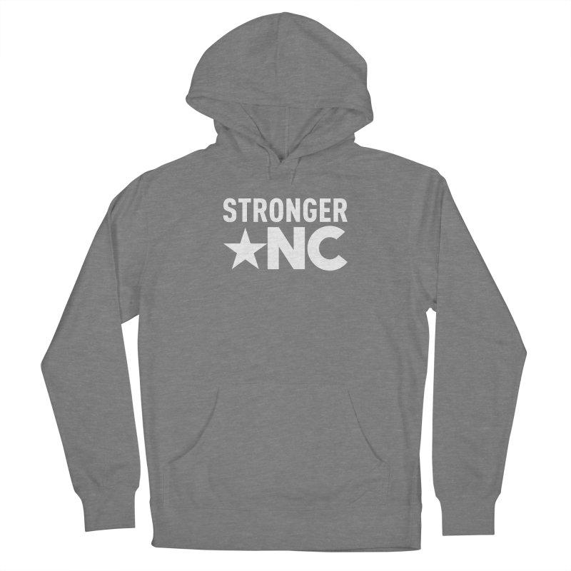 StrongerNC White Logo Men's Pullover Hoody by Stronger NC