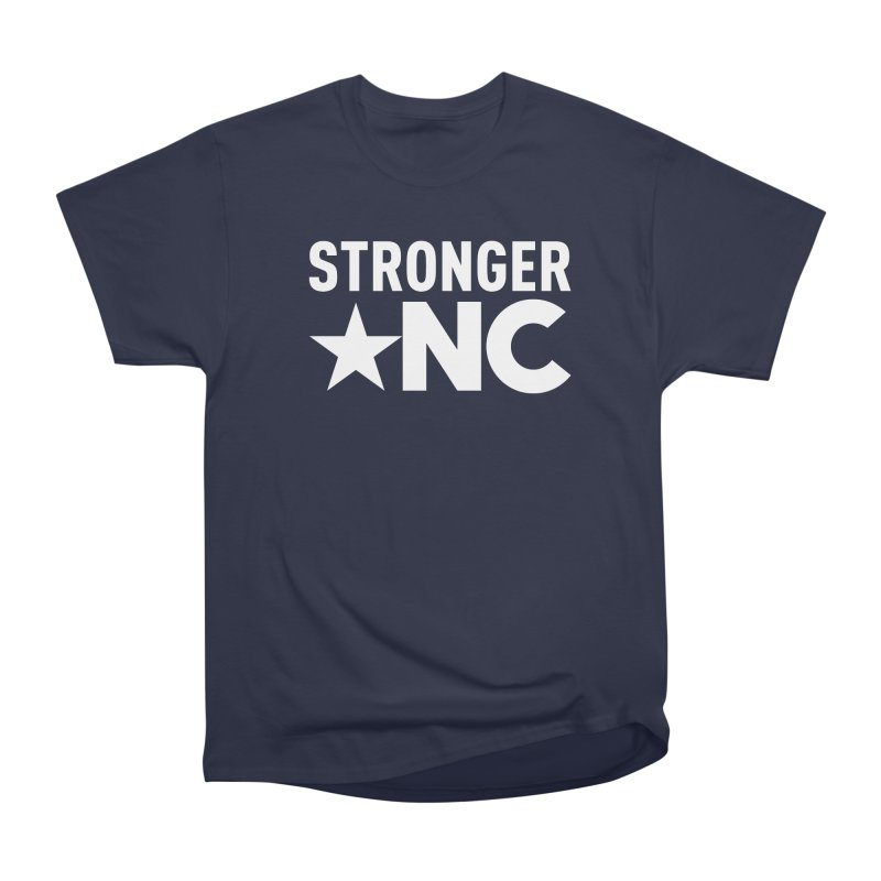 StrongerNC White Logo Men's Heavyweight T-Shirt by Stronger NC