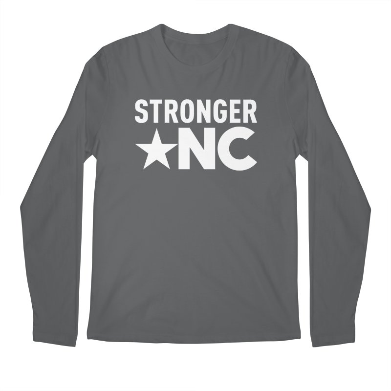 StrongerNC White Logo Men's Regular Longsleeve T-Shirt by Stronger NC