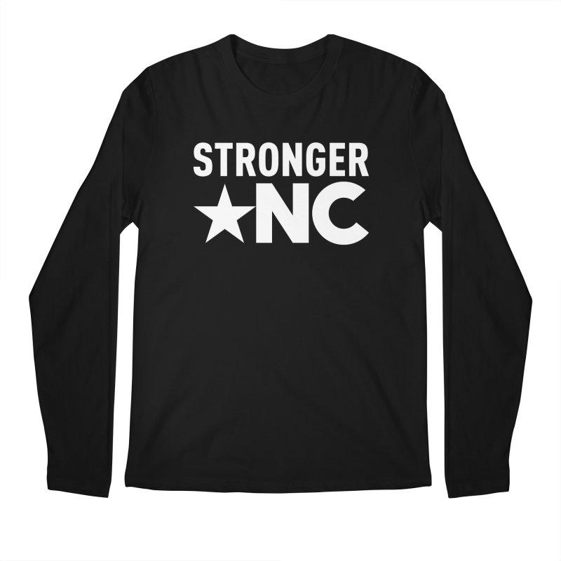StrongerNC White Logo Men's Regular Longsleeve T-Shirt by Stronger NC