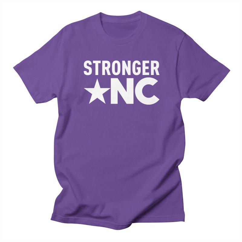 StrongerNC White Logo Men's Regular T-Shirt by Stronger NC