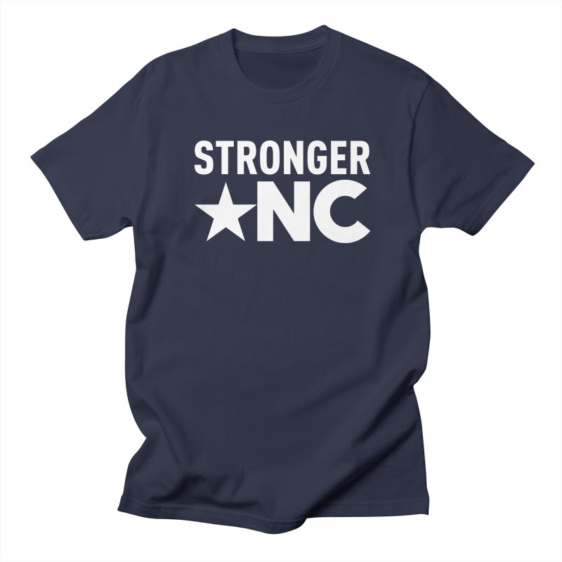 StrongerNC White Logo Men's Regular T-Shirt by Stronger NC