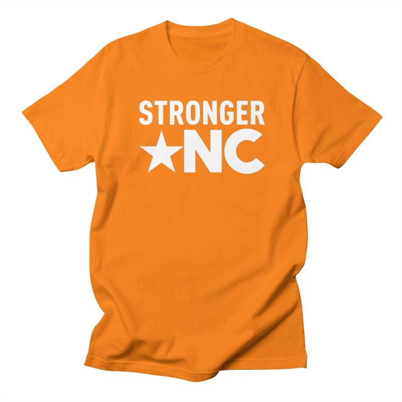 StrongerNC White Logo Women's Regular Unisex T-Shirt by Stronger NC