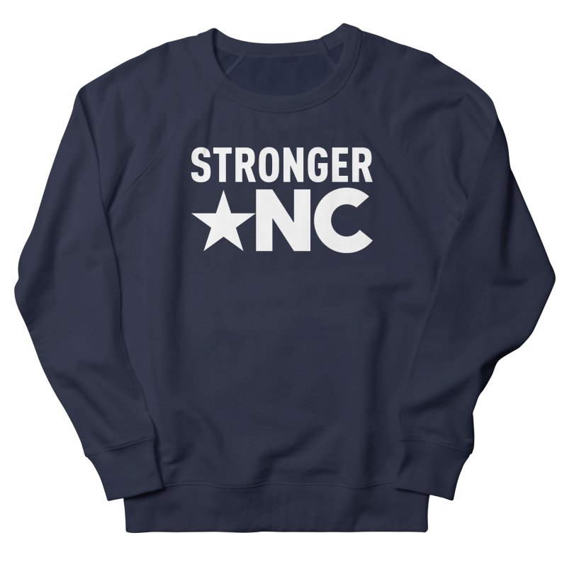 StrongerNC White Logo Men's French Terry Sweatshirt by Stronger NC