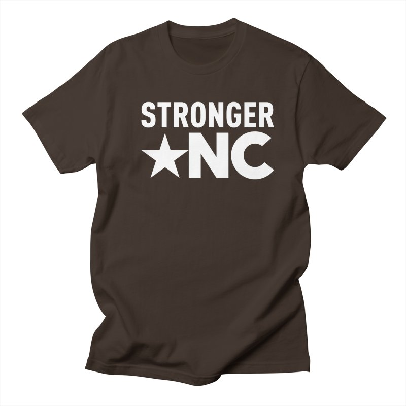 StrongerNC White Logo Men's T-Shirt by Stronger NC