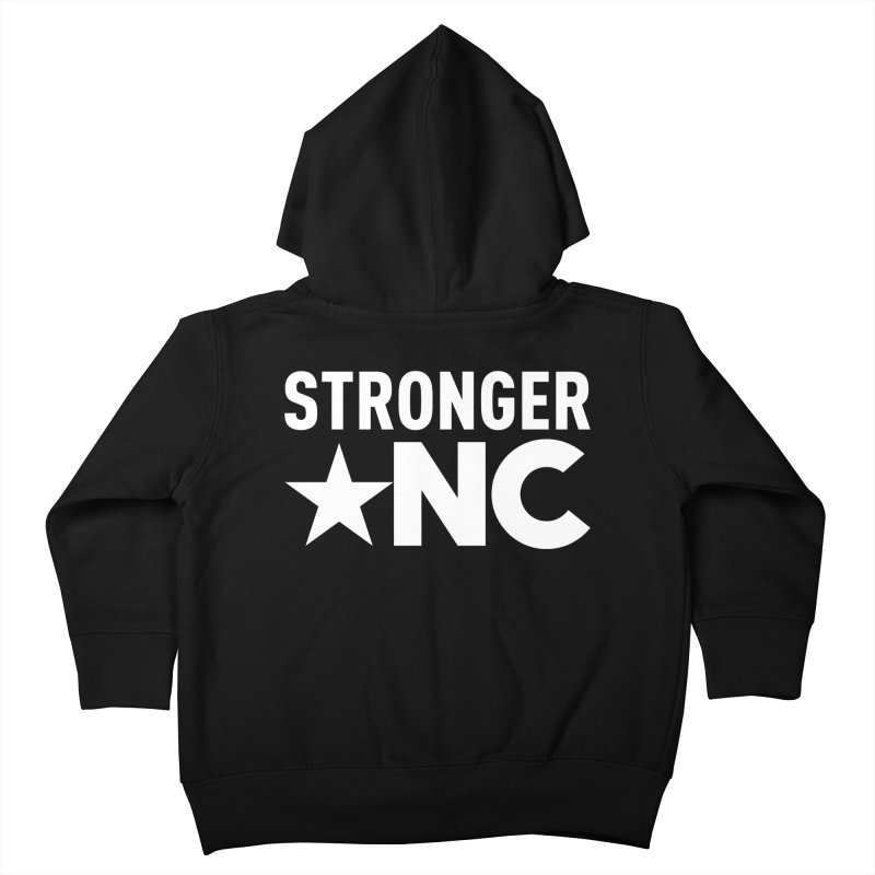 StrongerNC White Logo Kids Toddler Zip-Up Hoody by Stronger NC