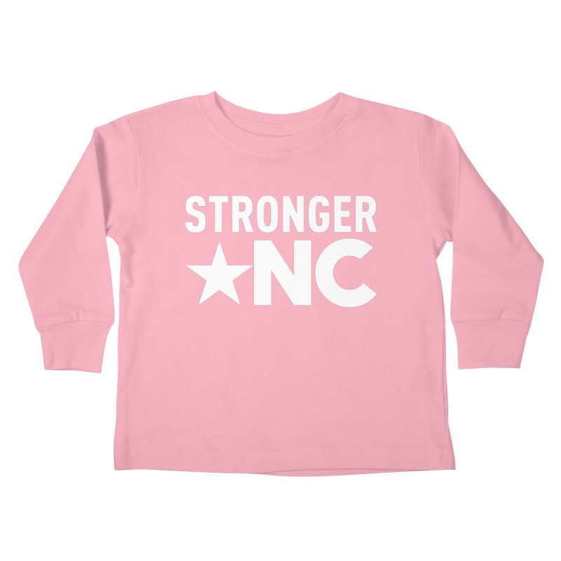 StrongerNC White Logo Kids Toddler Longsleeve T-Shirt by Stronger NC