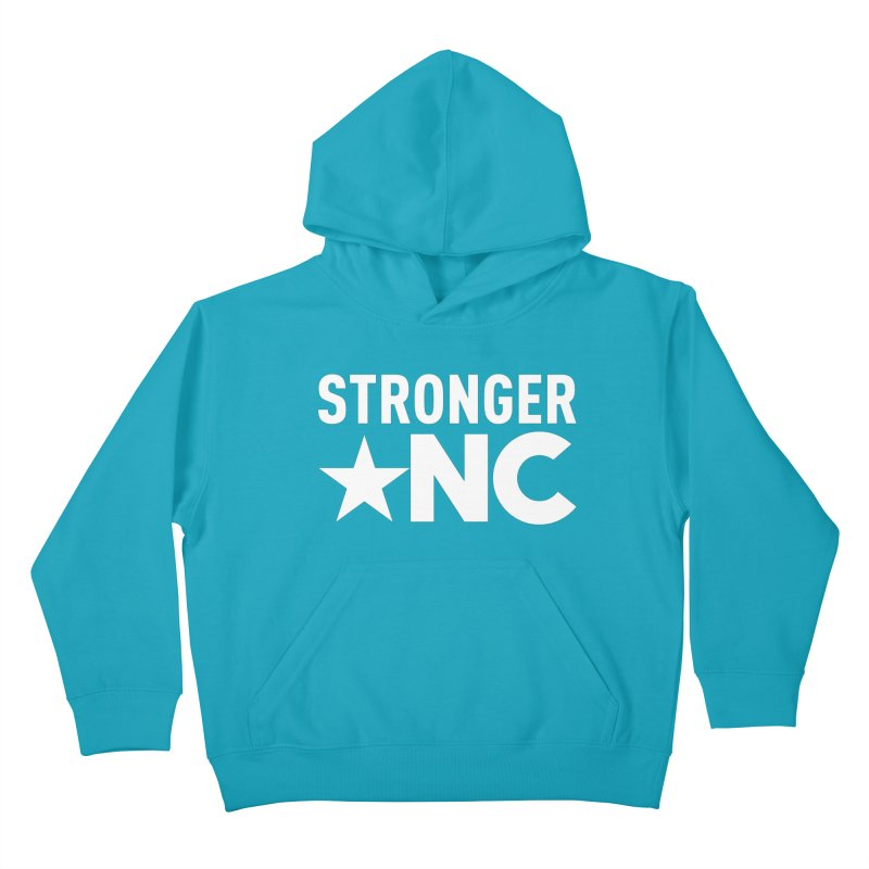 StrongerNC White Logo Kids Pullover Hoody by Stronger NC