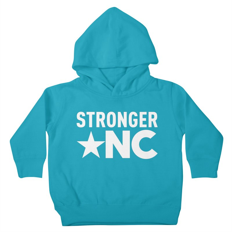 StrongerNC White Logo Kids Toddler Pullover Hoody by Stronger NC