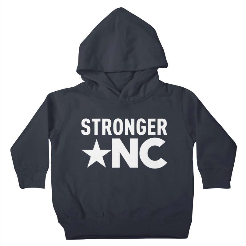 StrongerNC White Logo Kids Toddler Pullover Hoody by Stronger NC