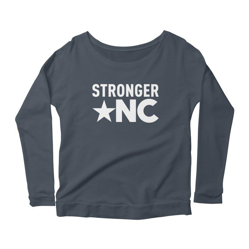 Stronger NC Logo Women's Scoop Neck Longsleeve T-Shirt by Stronger NC