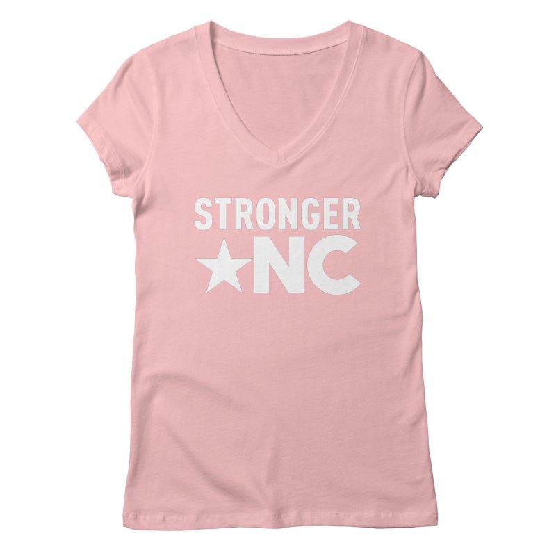 Stronger NC Logo Women's Regular V-Neck by Stronger NC