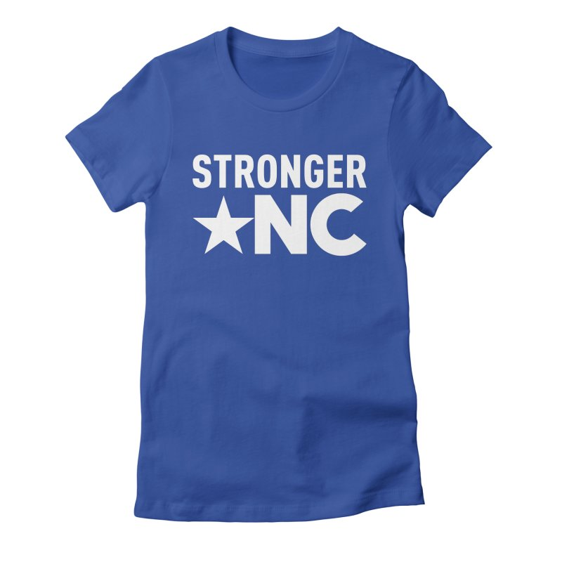 StrongerNC White Logo Women's T-Shirt by Stronger NC