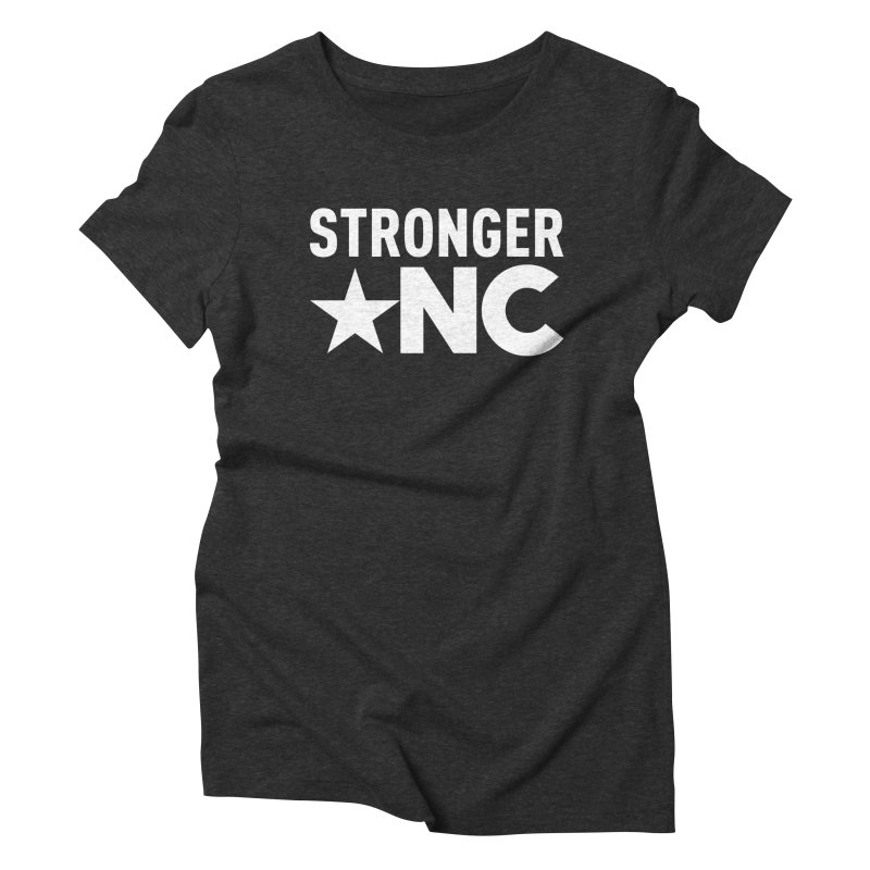 StrongerNC White Logo Women's Triblend T-Shirt by Stronger NC