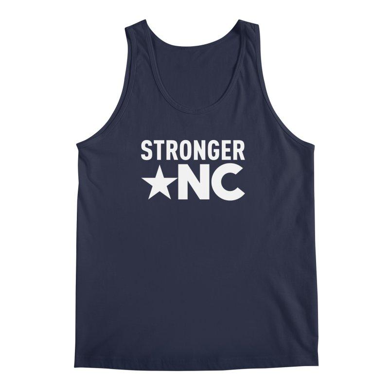 StrongerNC White Logo Men's Tank by Stronger NC