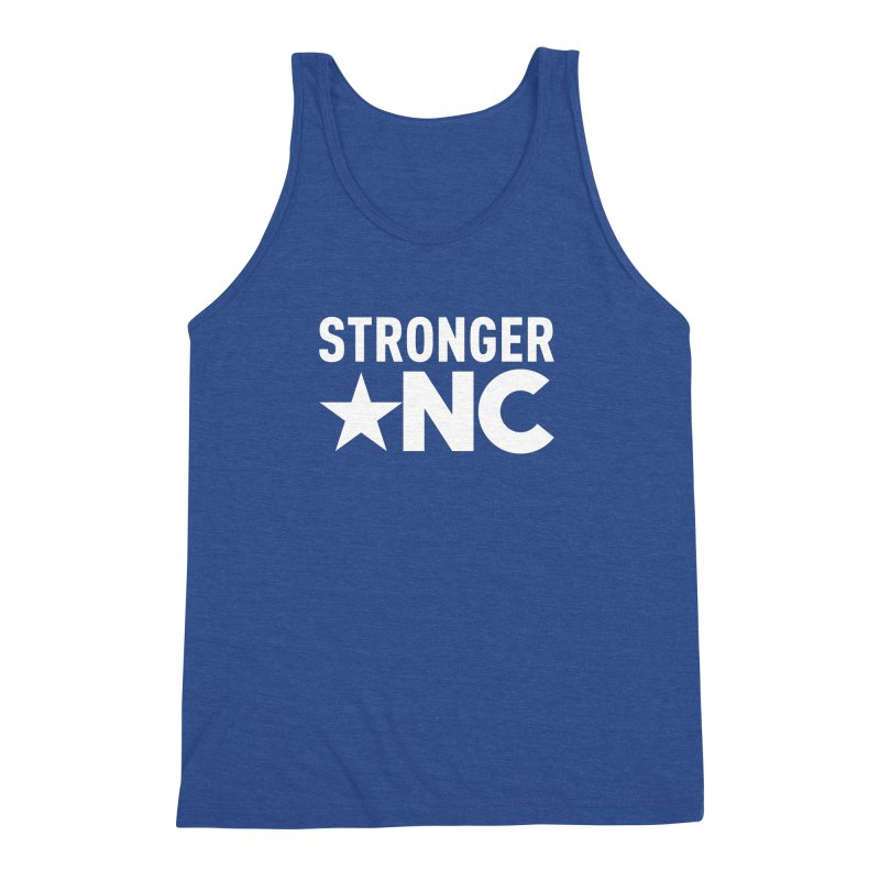 StrongerNC White Logo Men's Tank by Stronger NC