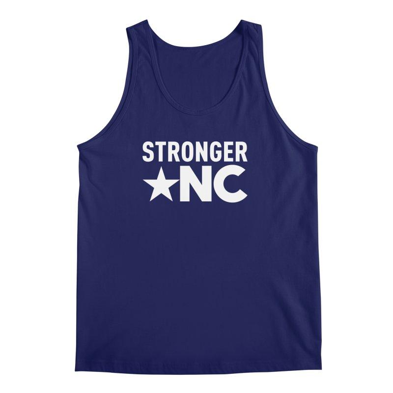 StrongerNC White Logo Men's Regular Tank by Stronger NC