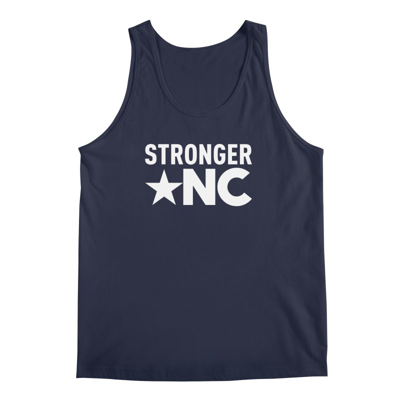 StrongerNC White Logo Men's Regular Tank by Stronger NC