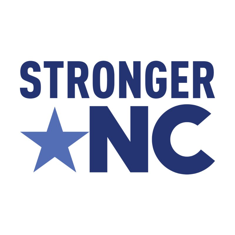StrongerNC Navy Logo Kids Longsleeve T-Shirt by Stronger NC