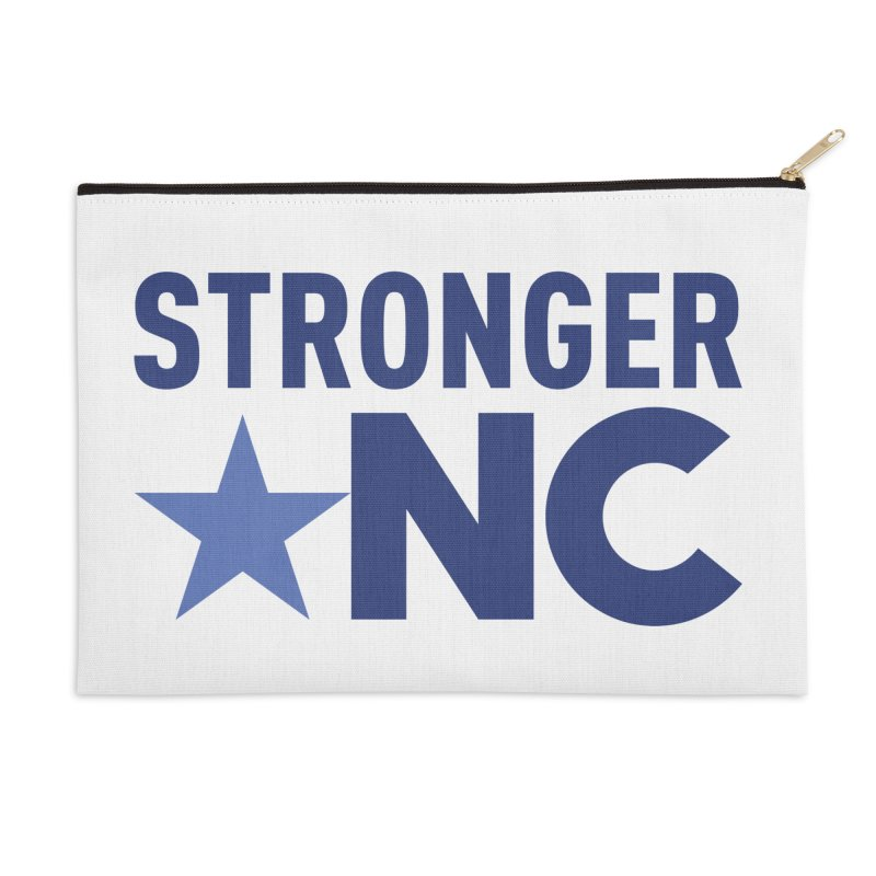 StrongerNC Navy Logo Accessories Zip Pouch by Stronger NC