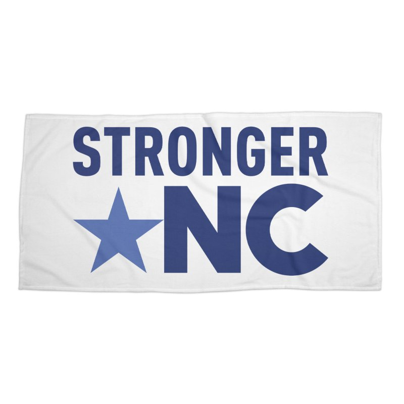 StrongerNC Navy Logo Accessories Beach Towel by Stronger NC