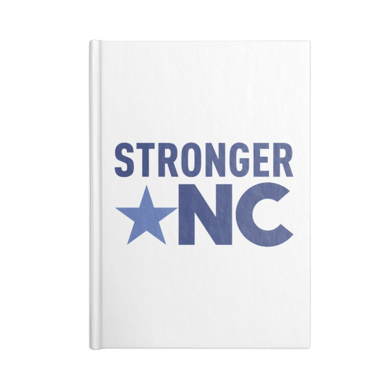 StrongerNC Navy Logo Accessories Lined Journal Notebook by Stronger NC
