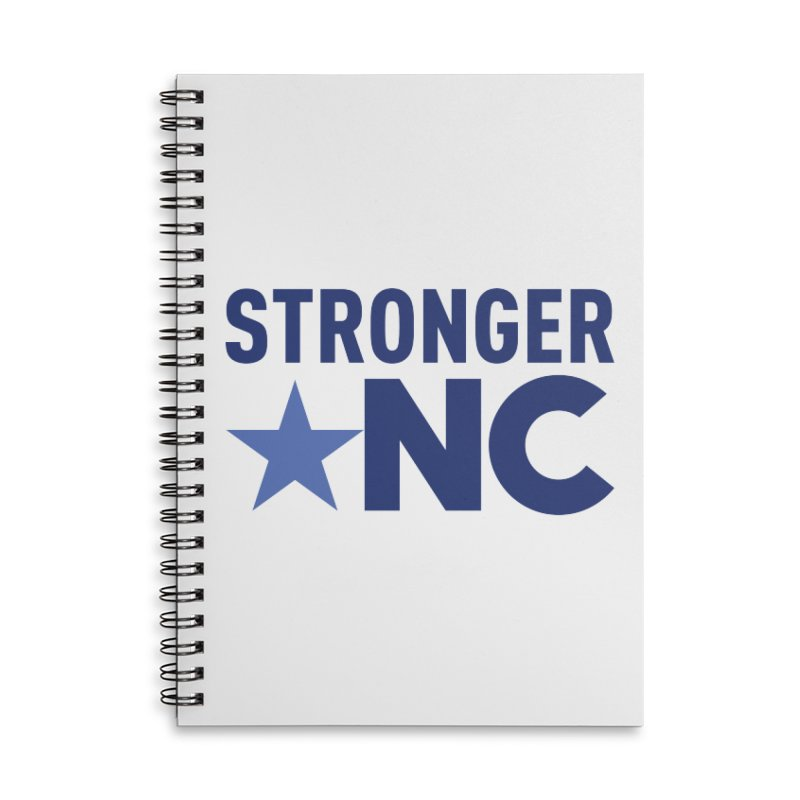 StrongerNC Navy Logo Accessories Lined Spiral Notebook by Stronger NC