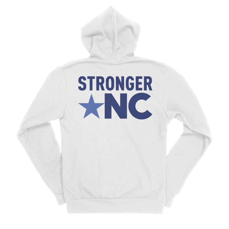 StrongerNC Navy Logo Men's Zip-Up Hoody by Stronger NC