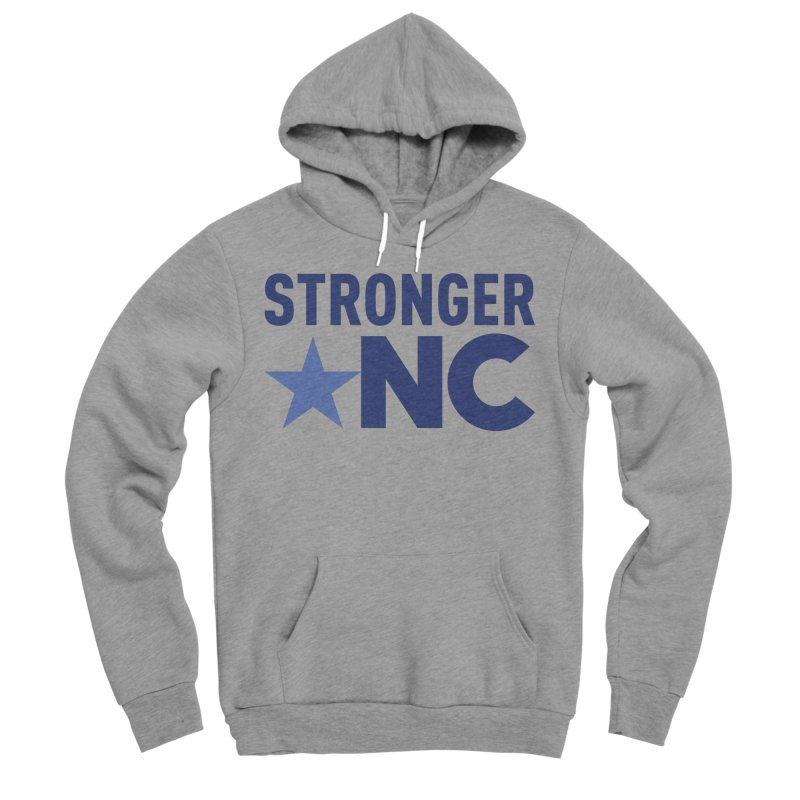 StrongerNC Navy Logo Men's Sponge Fleece Pullover Hoody by Stronger NC