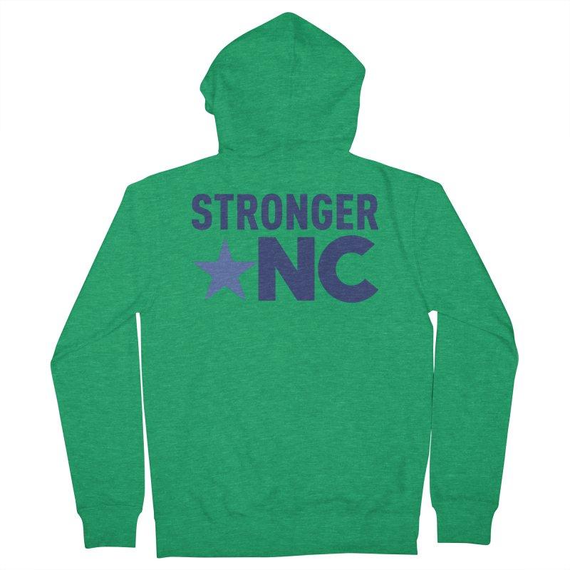 StrongerNC Navy Logo Women's Zip-Up Hoody by Stronger NC