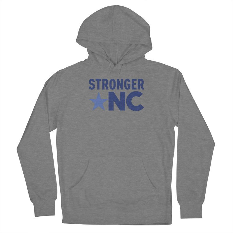 StrongerNC Navy Logo Men's French Terry Pullover Hoody by Stronger NC