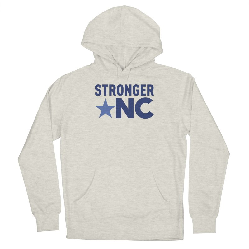 StrongerNC Navy Logo Women's French Terry Pullover Hoody by Stronger NC