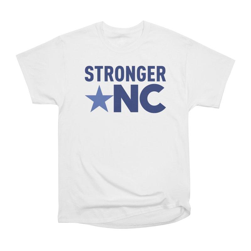 StrongerNC Navy Logo Men's Heavyweight T-Shirt by Stronger NC