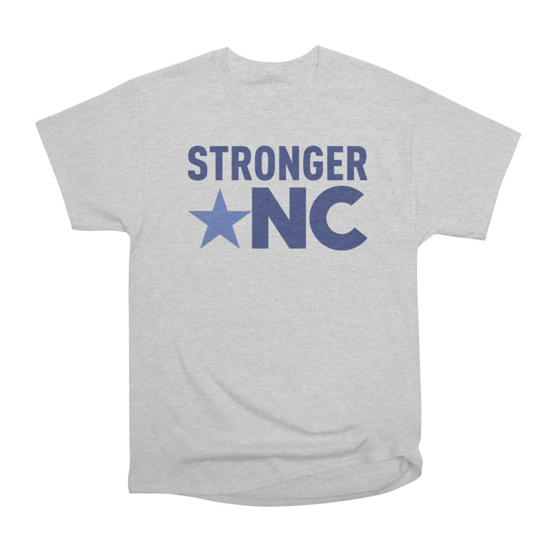 StrongerNC Navy Logo Men's Heavyweight T-Shirt by Stronger NC