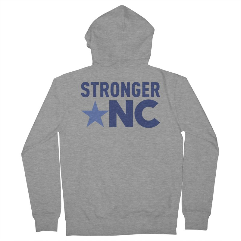StrongerNC Navy Logo Men's French Terry Zip-Up Hoody by Stronger NC
