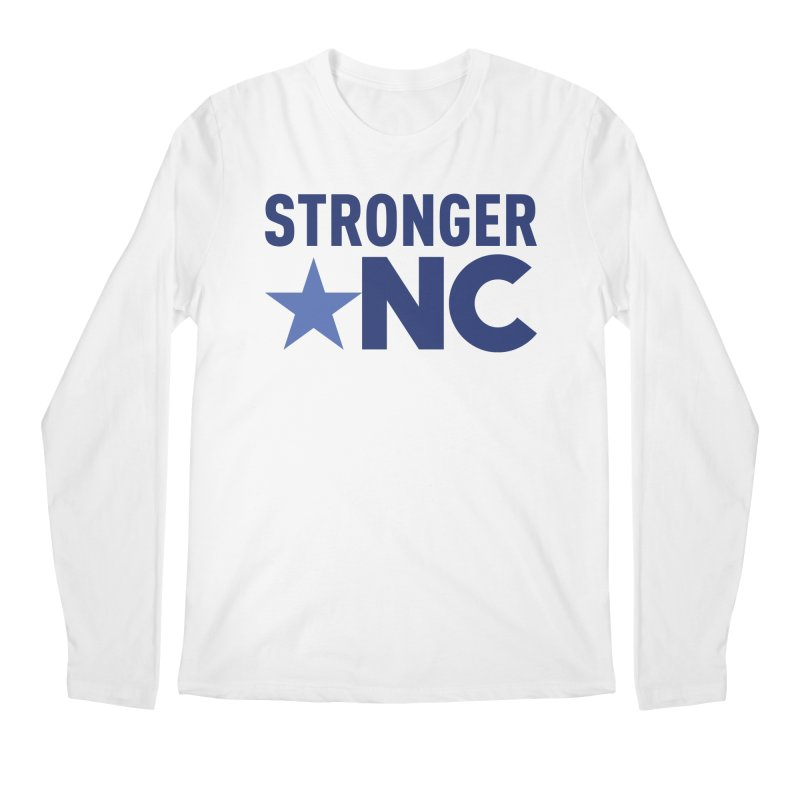Stronger NC Color Logo Men's Regular Longsleeve T-Shirt by Stronger NC