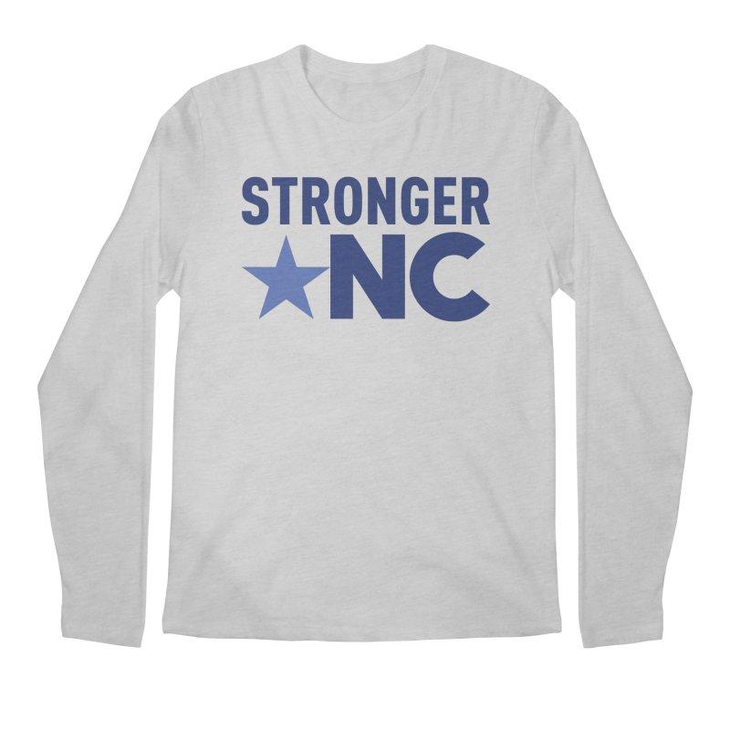 StrongerNC Navy Logo Men's Regular Longsleeve T-Shirt by Stronger NC