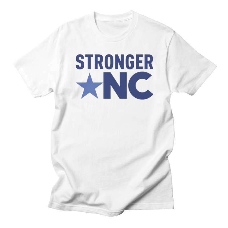 StrongerNC Navy Logo Men's Regular T-Shirt by Stronger NC