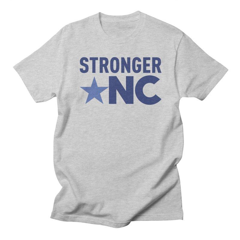 StrongerNC Navy Logo Men's Regular T-Shirt by Stronger NC