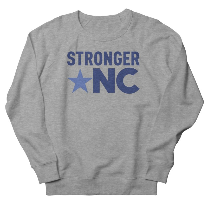 StrongerNC Navy Logo Men's French Terry Sweatshirt by Stronger NC
