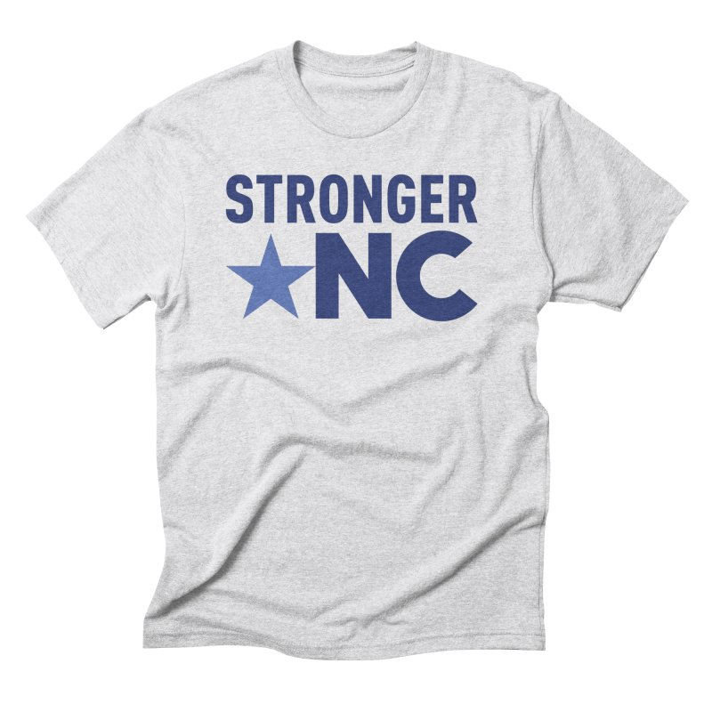 StrongerNC Navy Logo Men's Triblend T-Shirt by Stronger NC