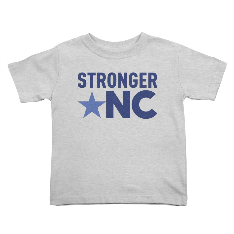 StrongerNC Navy Logo Kids Toddler T-Shirt by Stronger NC