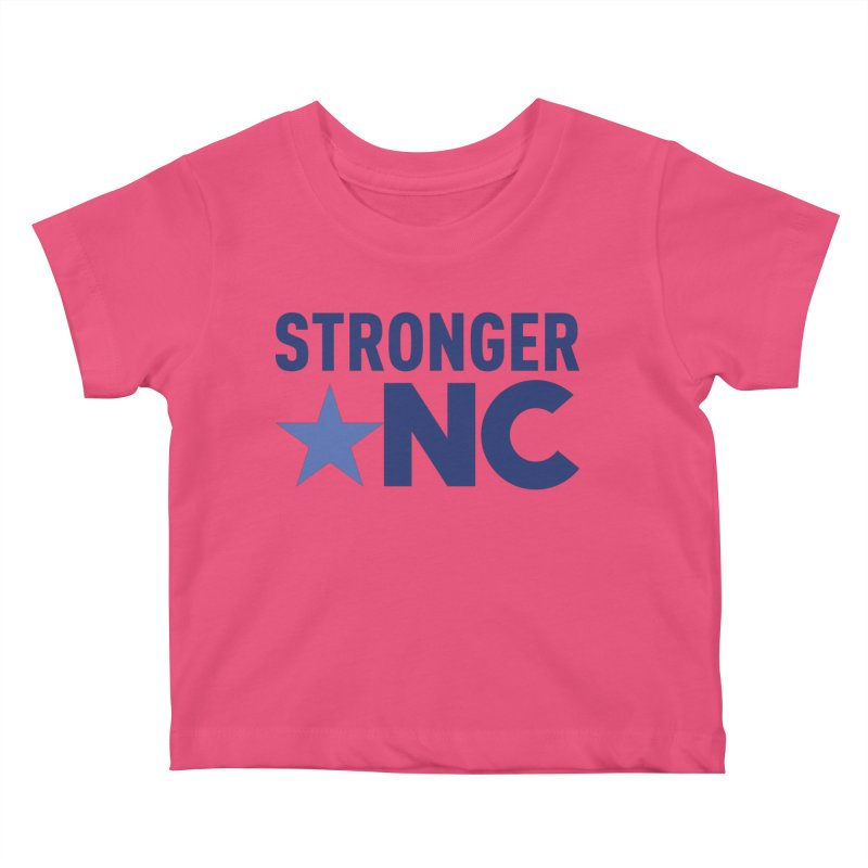 StrongerNC Navy Logo Kids Baby T-Shirt by Stronger NC