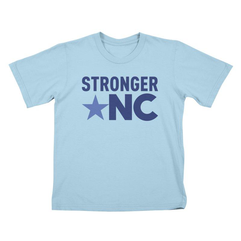 StrongerNC Navy Logo Kids T-Shirt by Stronger NC