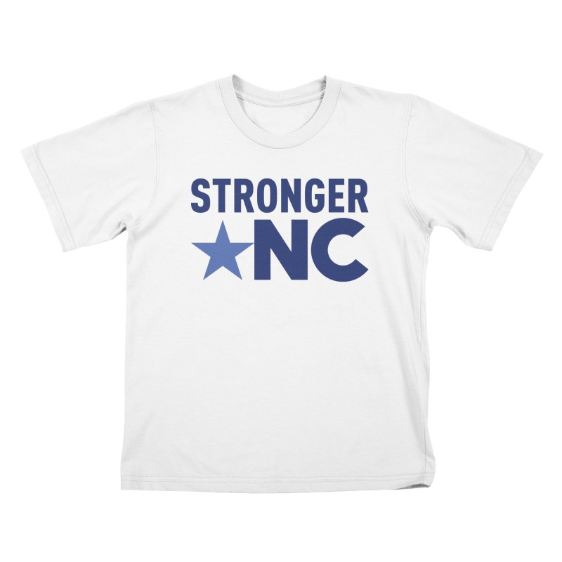 StrongerNC Navy Logo Kids T-Shirt by Stronger NC
