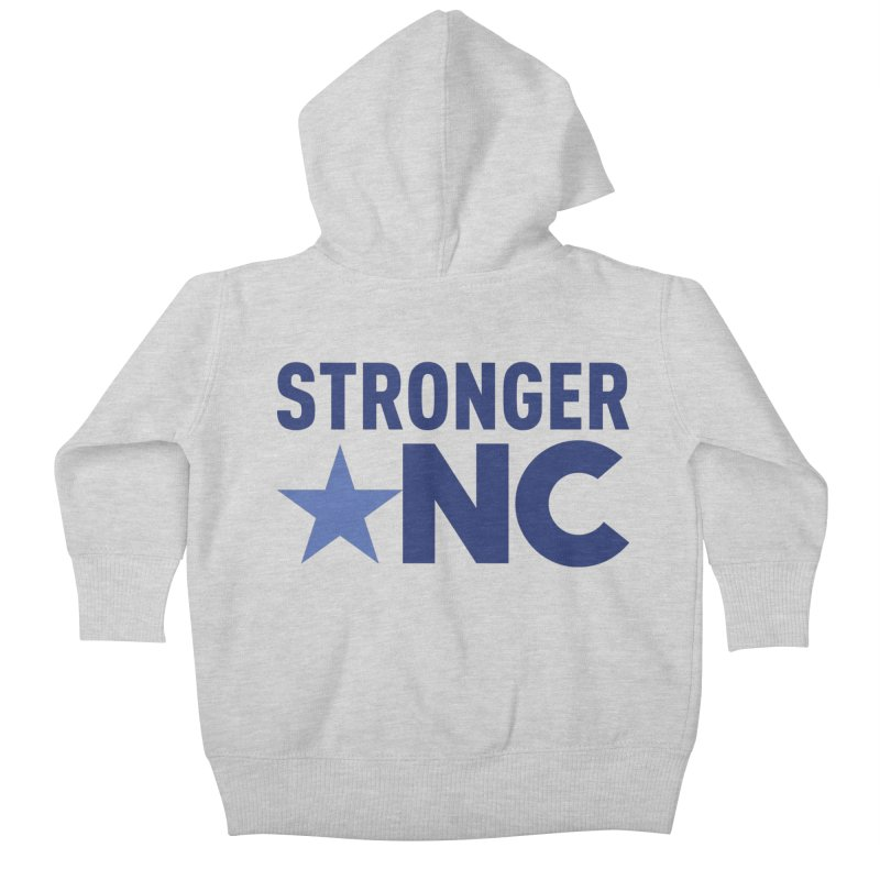 StrongerNC Navy Logo Kids Baby Zip-Up Hoody by Stronger NC